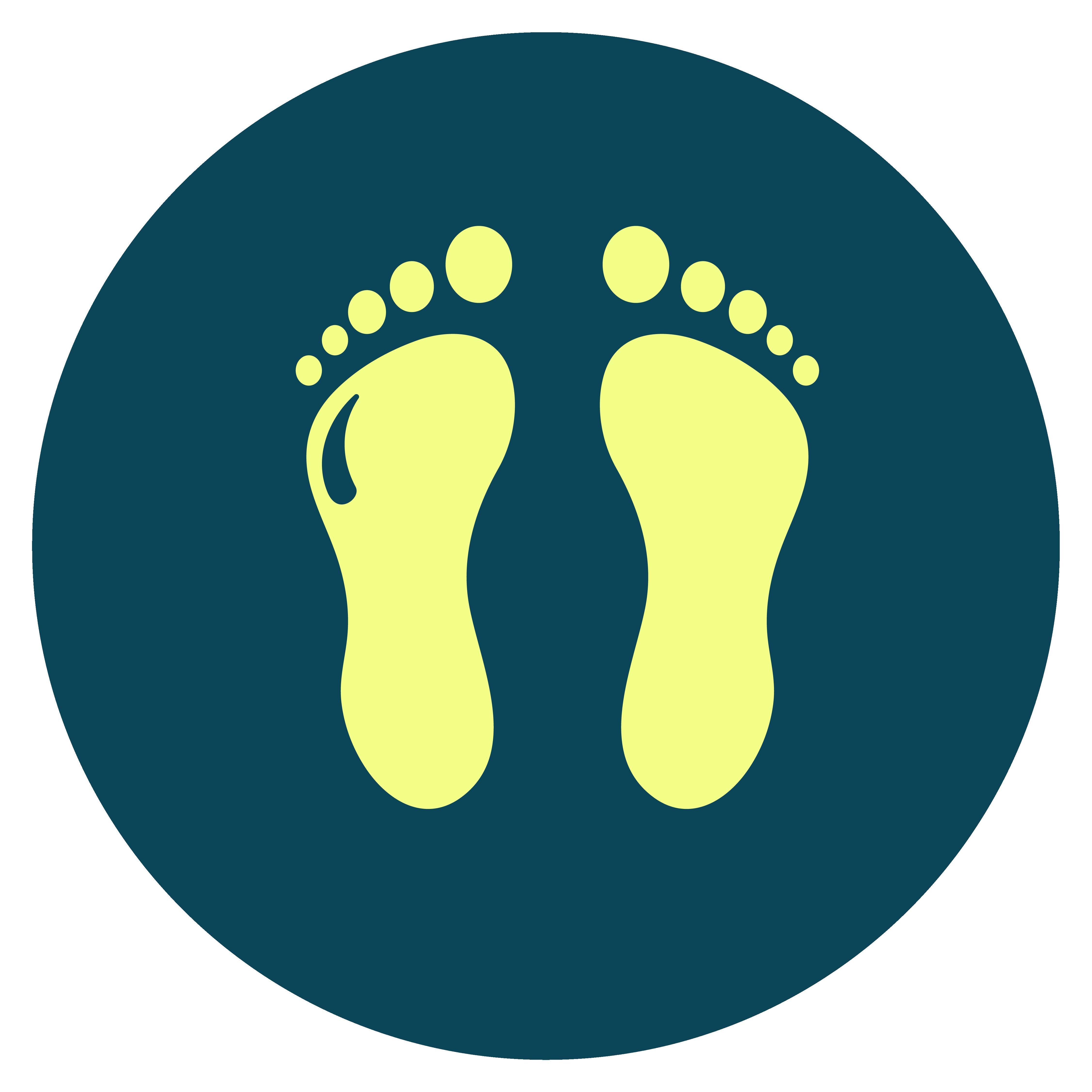 Thrive Living Icon Design Yellow On Blue Chiropodist