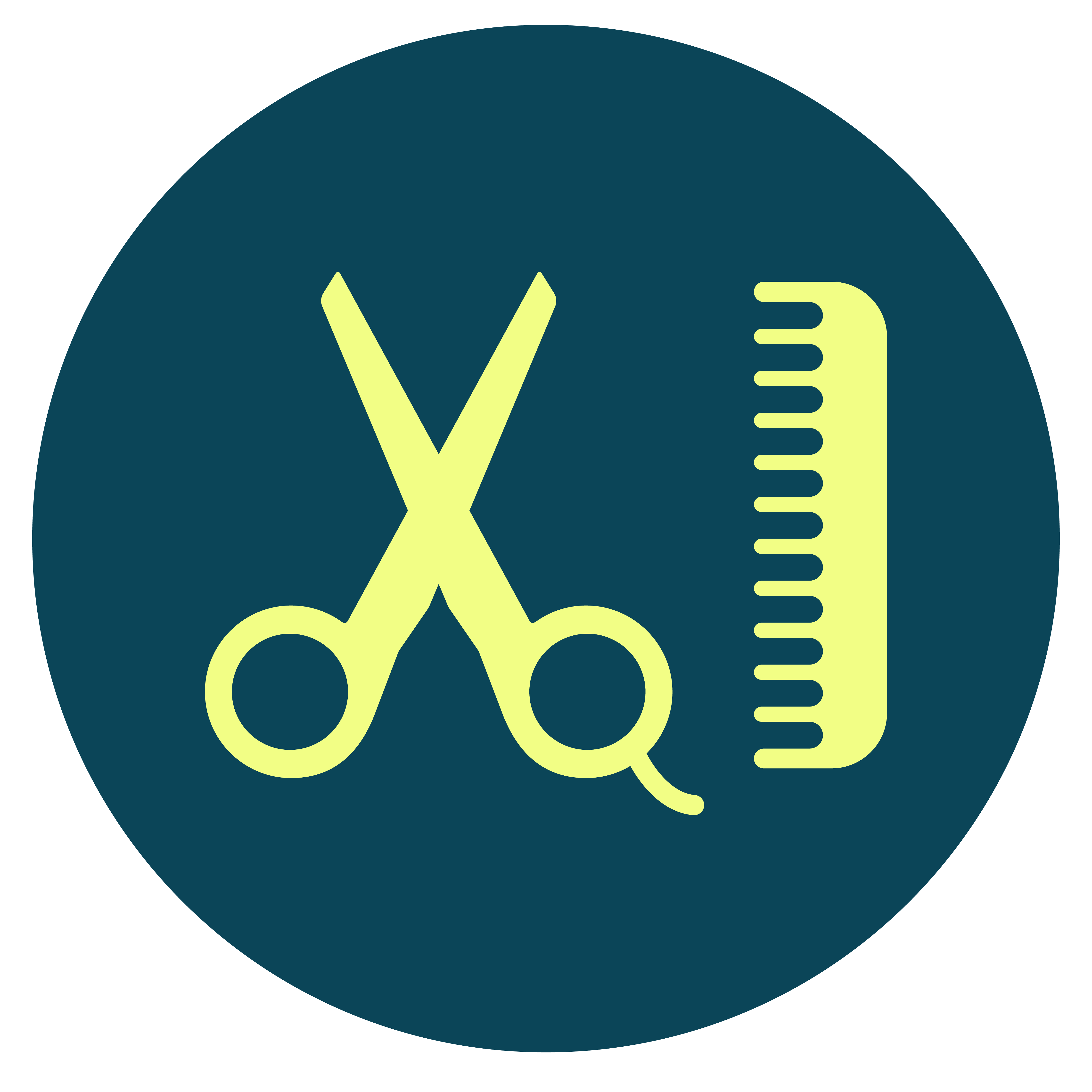 Thrive Living Icon Design Yellow On Blue Hairdressers